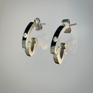 Jewelry - Stainless Steel Zirconia Earrings